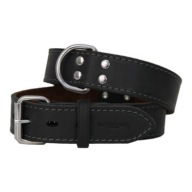 Earthbound Ox Leather Collar - Black