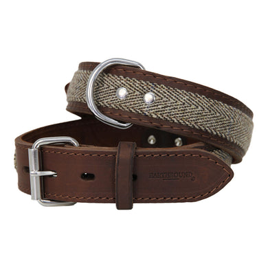 Earthbound Tweed Leather Collar - Beige
