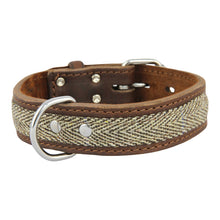 Load image into Gallery viewer, Earthbound Tweed Leather Collar - Beige