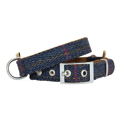 Earthbound Tweed Collar - Navy