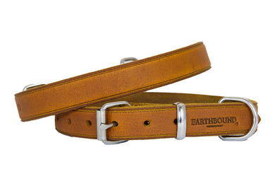 Earthbound Soft Leather Collar - Tan