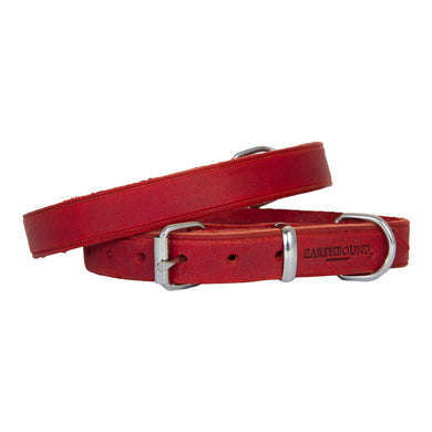 Earthbound Soft Leather Collar - Red