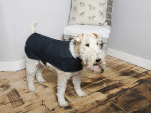 Mutts & Hounds Navy Waxed Coat