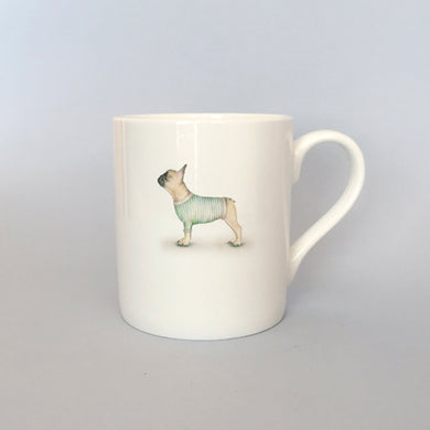 Beautiful Bone China French Bulldog Mug