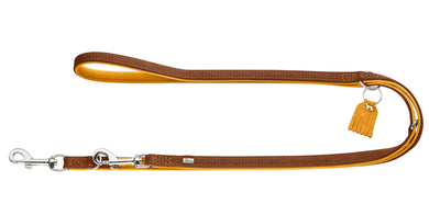 Hunter 'Lucca' Leather Leash - Mustard Brown