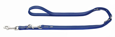 Hunter 'Cannes' Leather Leash - Blue