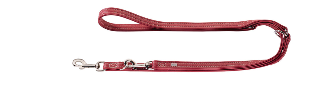 Hunter 'Cannes' Leather Leash - Burgundy