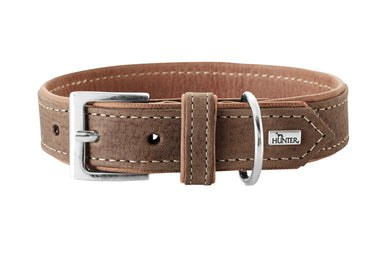 Hunter 'Porto' Leather Collar - Tobacco/Cognac