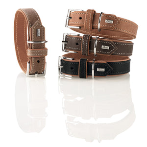 Hunter 'Porto' Leather Collar -  Cognac