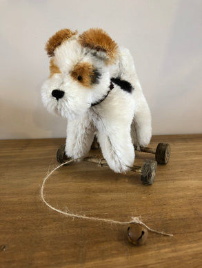 Handmade Fox Terrier Collectable Dog on Wheels