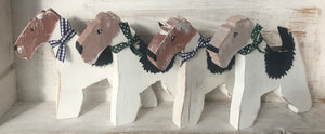 Limited Edition: Handmade Wooden Fox Terrier