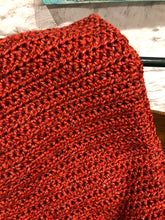 Load image into Gallery viewer, Handmade Crochet Blanket - Rust Red