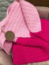 Load image into Gallery viewer, Handmade Crochet Blanket - Gorrrrrgeous Pink!