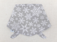 Load image into Gallery viewer, *Exclusive* Grey Snowflake Bandana