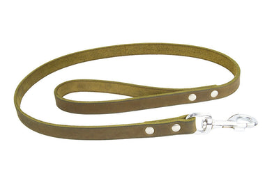 Earthbound Soft Country Leather Leash - Green