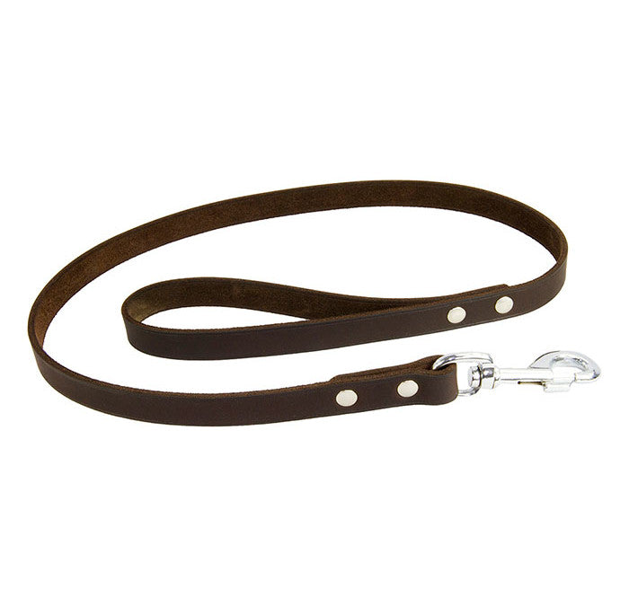 Earthbound Soft Country Leather Leash - Brown