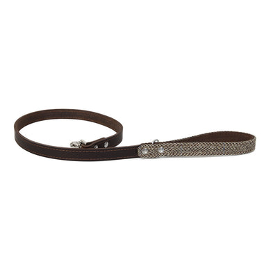 Earthbound Ox Tweed Leather Leash - Beige