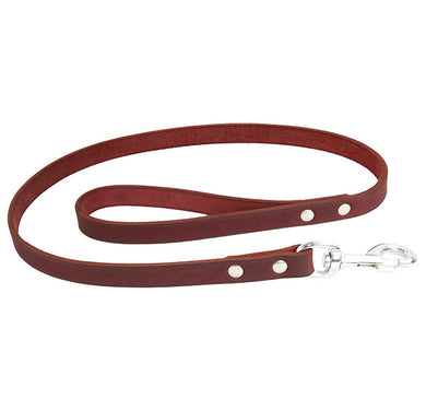 Earthbound Soft Country Leather Leash - Red