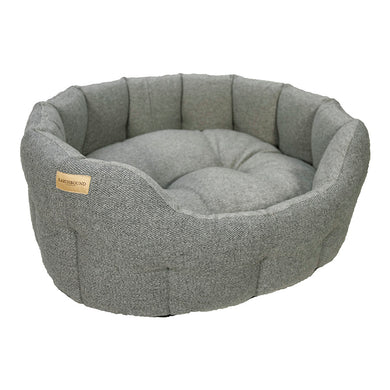 Traditional Tweed Bed - Soft Grey