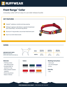 Ruffwear Front Range™ Collar - Twilight Grey