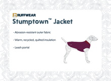 Load image into Gallery viewer, Ruffwear STUMPTOWN™ Quilted Dog Coat - Larkspur Purple