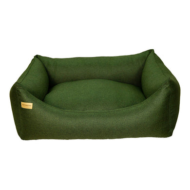 Rectangular Morland Bed - Dark Green