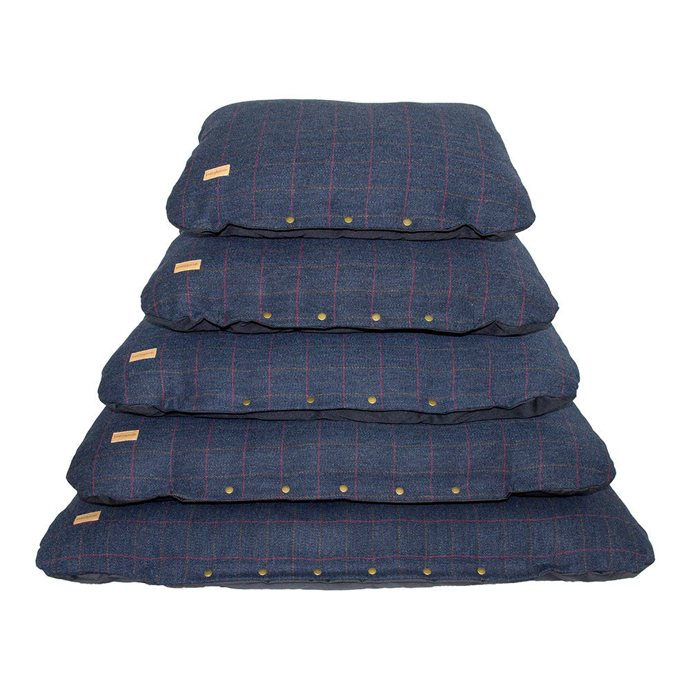 Tweed Cushion bed - Classic Navy
