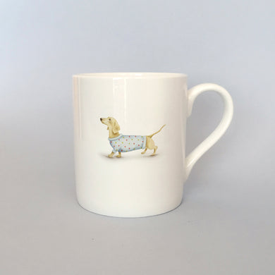 Beautiful Bone China Sausage Dog Mug