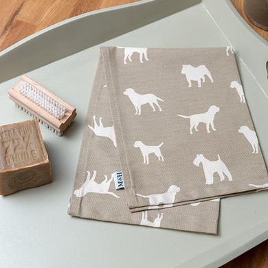 Mutts & Hounds - French Grey Tea Towel