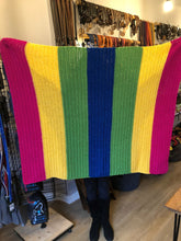 Load image into Gallery viewer, Handmade Crochet Blanket - Rainbow Brights