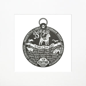 """Dog Tag"" print for Beagle lovers"