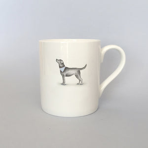 Beautiful Bone China Black Labrador Mug