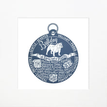 "Load image into Gallery viewer, ""Dog Tag"" print for Bulldog lovers"