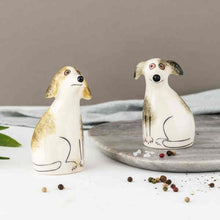 Load image into Gallery viewer, Handmade Ceramic Scruffy Dog Salt and Pepper Shakers
