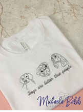 Load image into Gallery viewer, Dogs Embroidered T-shirt