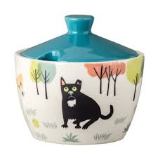 Handmade Ceramic Dog Sugar Bowl
