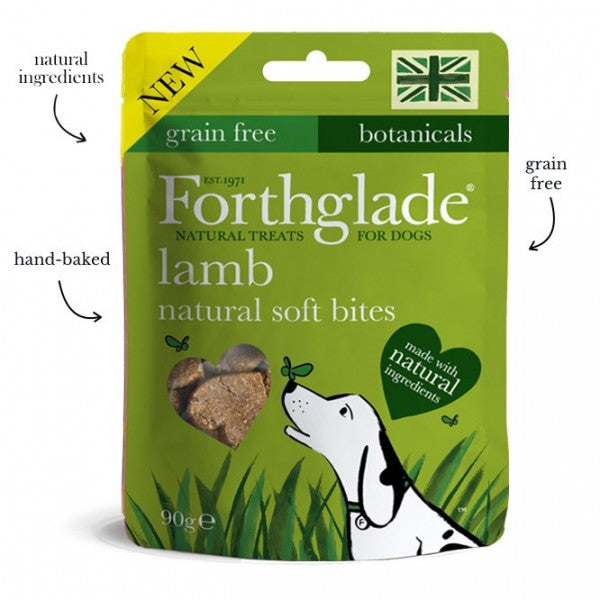 Forthglade natural soft bite treats with lamb