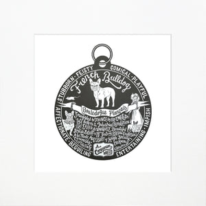 """Dog Tag"" print for French Bulldog lovers"