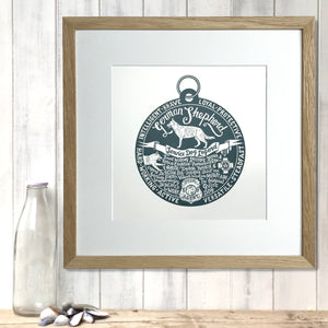 """Dog Tag"" print for German Shepherd lovers"