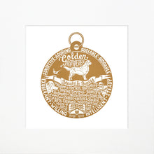 "Load image into Gallery viewer, ""Dog Tag"" print for Golden Retriever lovers"