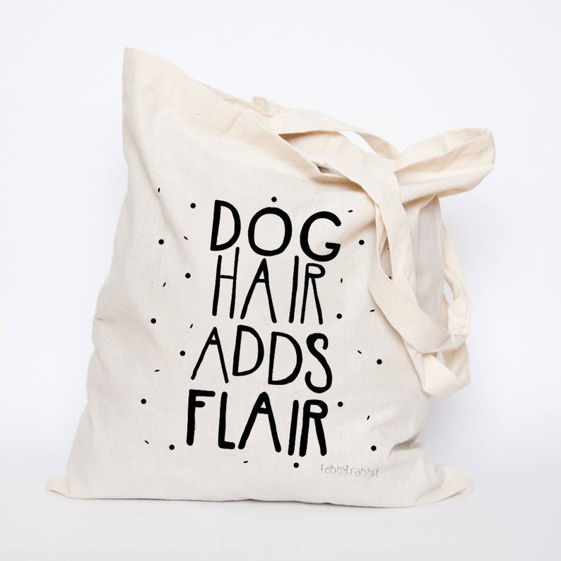 Tabby Rabbit - Dog Hair Adds Flair Tote