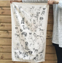Load image into Gallery viewer, All The Dogs tea towel