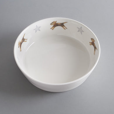 Border Terrier Bone China Dog Bowl