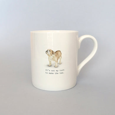 Beautiful Bone China Bulldog Mug