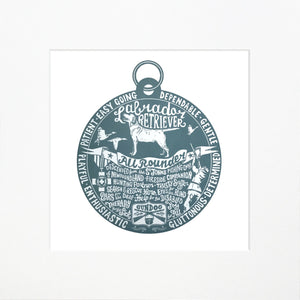 """Dog Tag"" print for Labradoodle lovers"