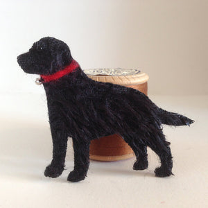 Black Labrador hand-made Brooch