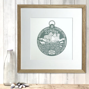 """Dog Tag"" print for Lurcher lovers"