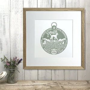 """Dog Tag"" print for Poodle lovers"