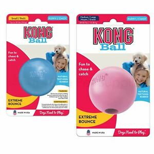 KONG® Puppy Ball - Medium-Large, Pink/Blue
