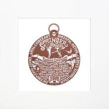"Load image into Gallery viewer, ""Dog Tag"" print for Springer Spaniel lovers"